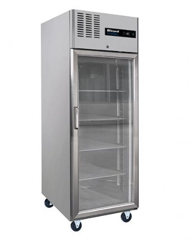 Blizzard BH1SSCR Single Glass Door Ventilated Gn Refrigerator 550L